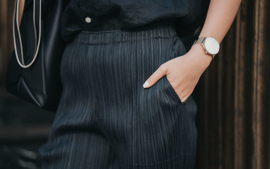 Pleats Please Issey Miyake Tapered-leg Trousers Review
